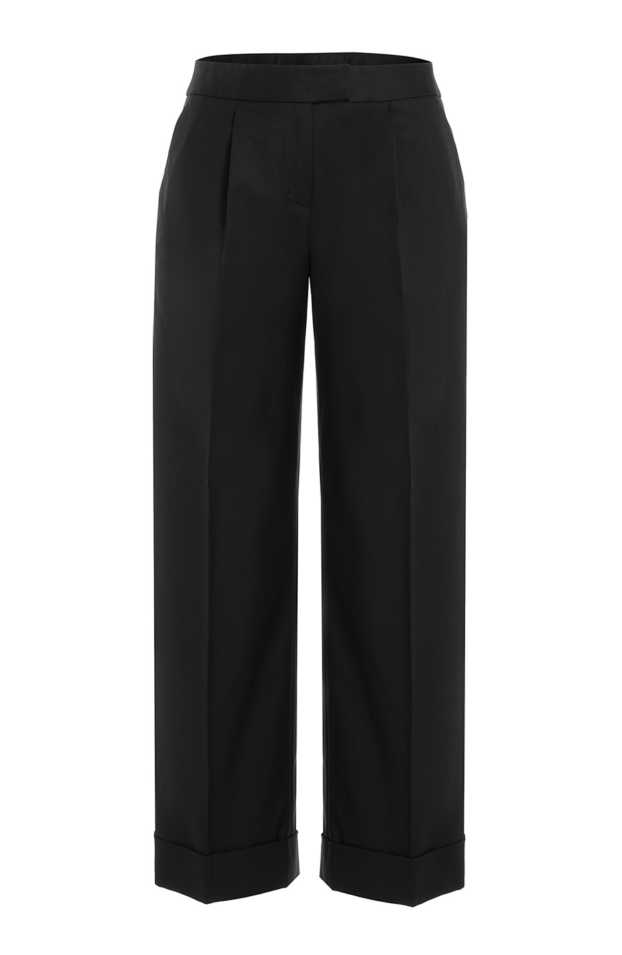 Boutique Moschino Cropped Wide Leg Pants In Black