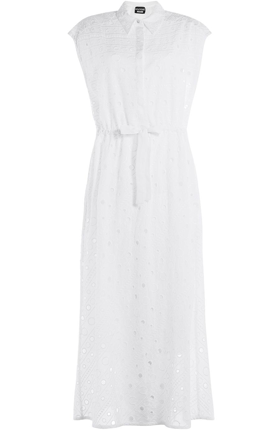 Boutique Moschino Cotton Maxi Dress In White