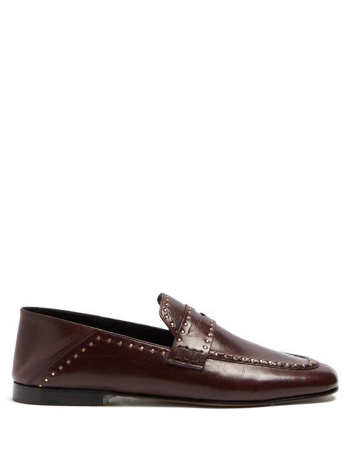 a47e7160ae1 Isabel Marant Fezzy Collapsible-Heel Leather Loafers In Burgundy ...