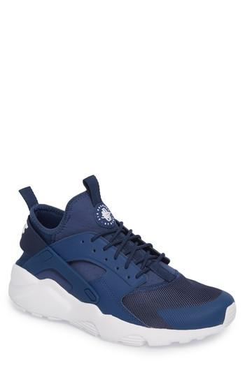 edc7f01e978b6 Nike Men's Air Huarache Run Ultra Casual Sneakers From Finish Line In Navy/  White