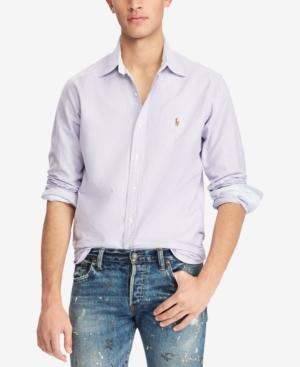 36705ab32 Polo Ralph Lauren Oxford Classic Fit Button-Down Shirt In Grape White