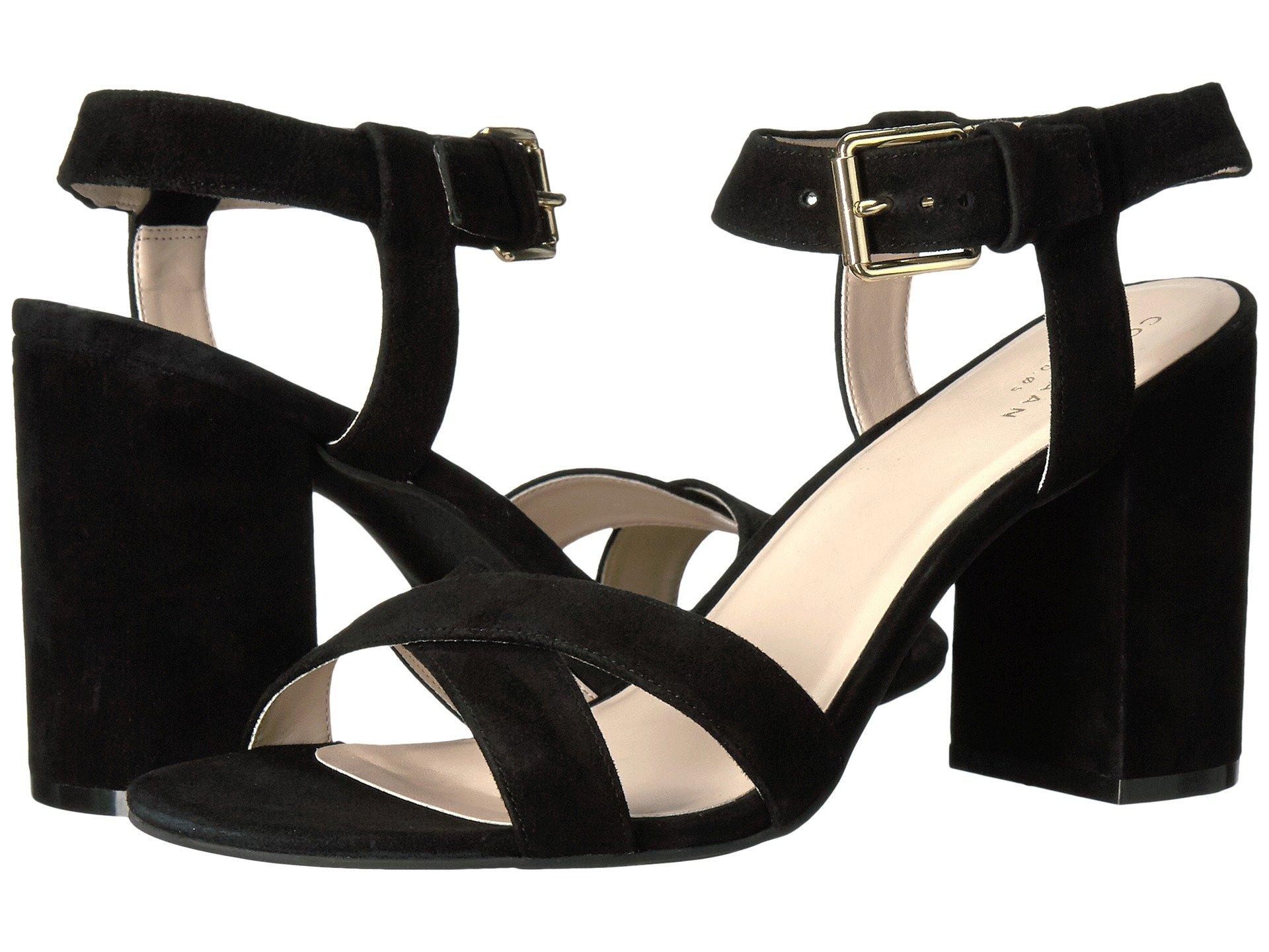 29f9d64646c Cole Haan Kadi Suede Ankle Strap Sandals In Black Suede