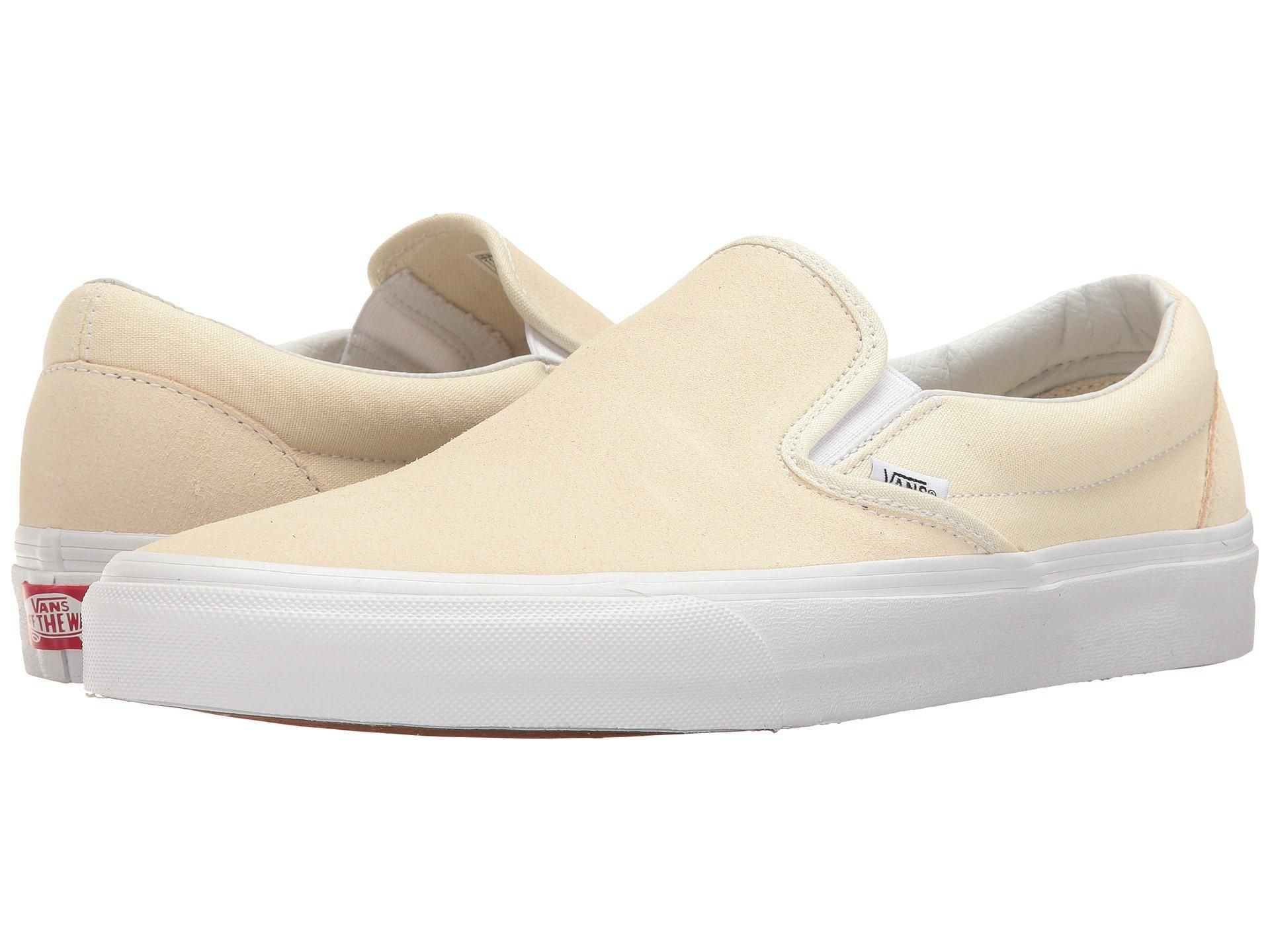 cc8e23123f Vans Classic Slip-On™ In (Suede Canvas) Afterglow True White