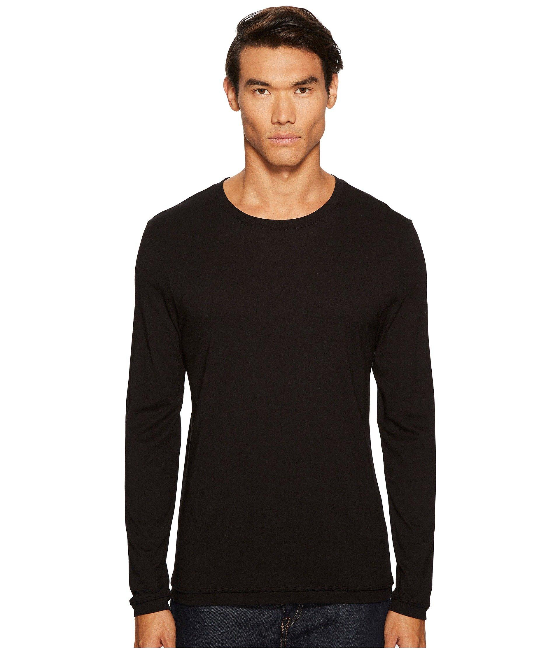 Vince Raw Edge Long Sleeve In Black