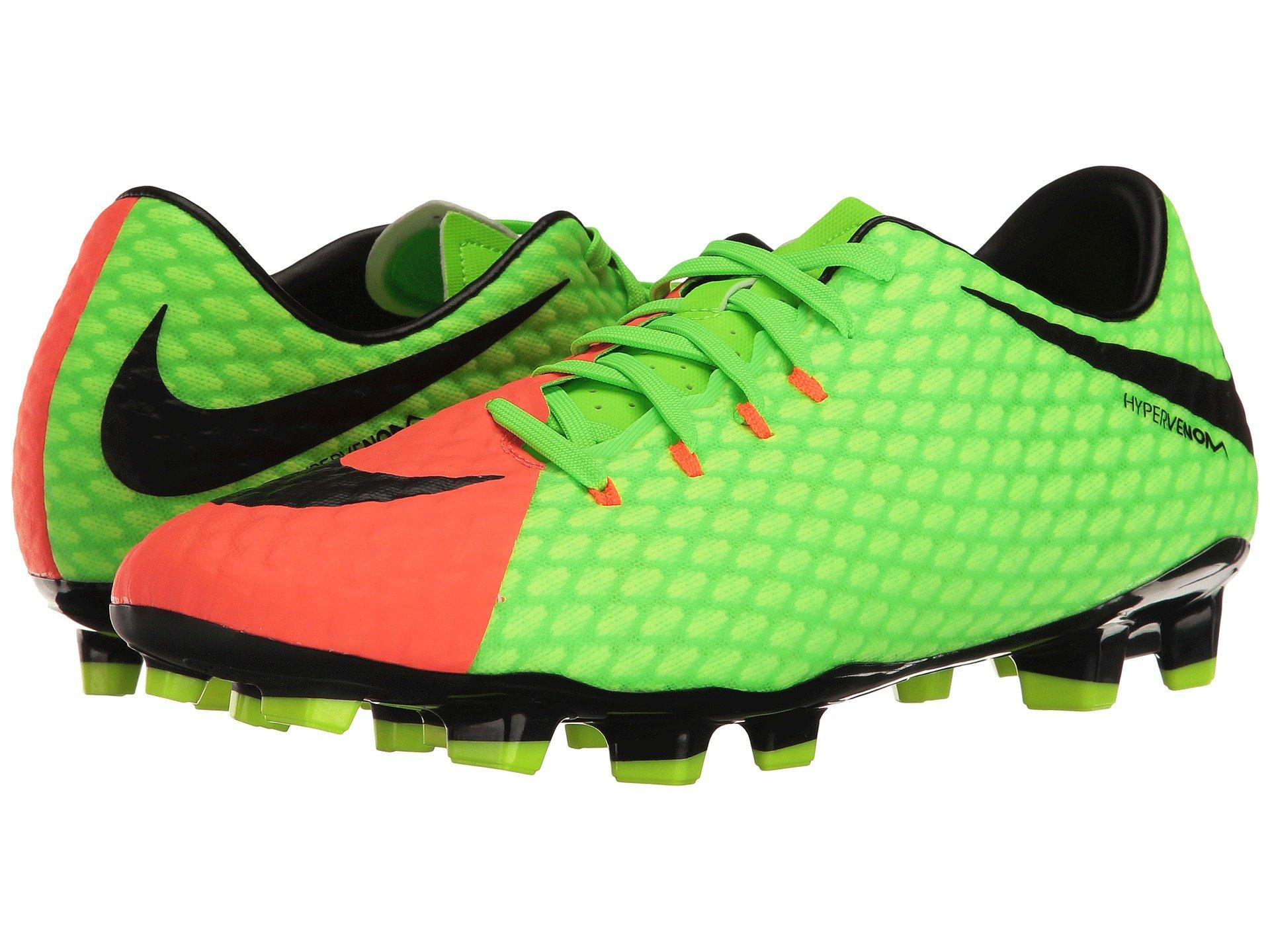 cf808ca118a Bring your best to every match in the Nike® Hypervenom Phelon III FG soccer  cleat! Uppers made from coated mesh and textile. Lace-up closure.