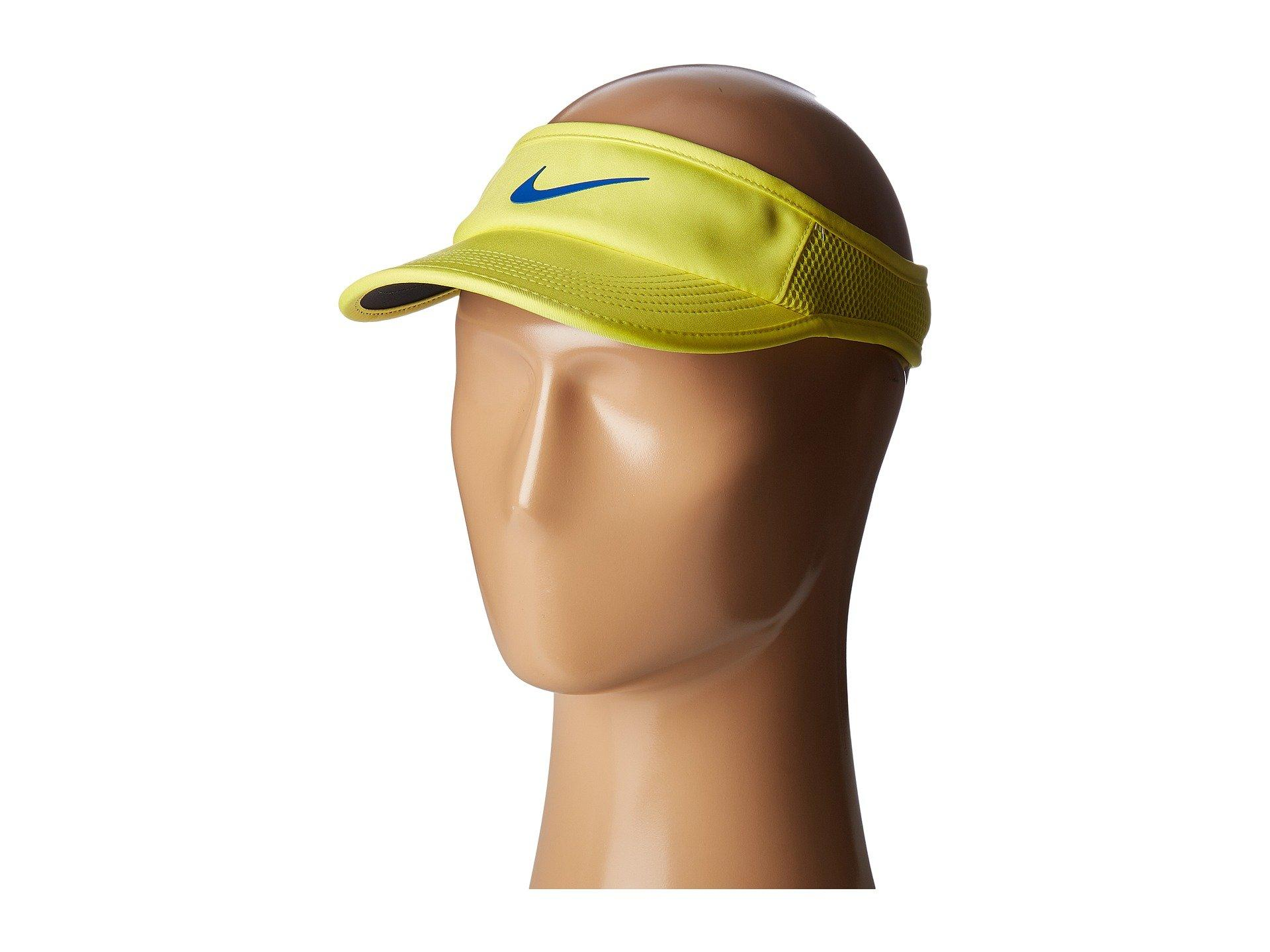 1ad660186c8ce5 Nike Aerobill Featherlight Adjustable Visor In Sonic Yellow/Black/Blue Jay