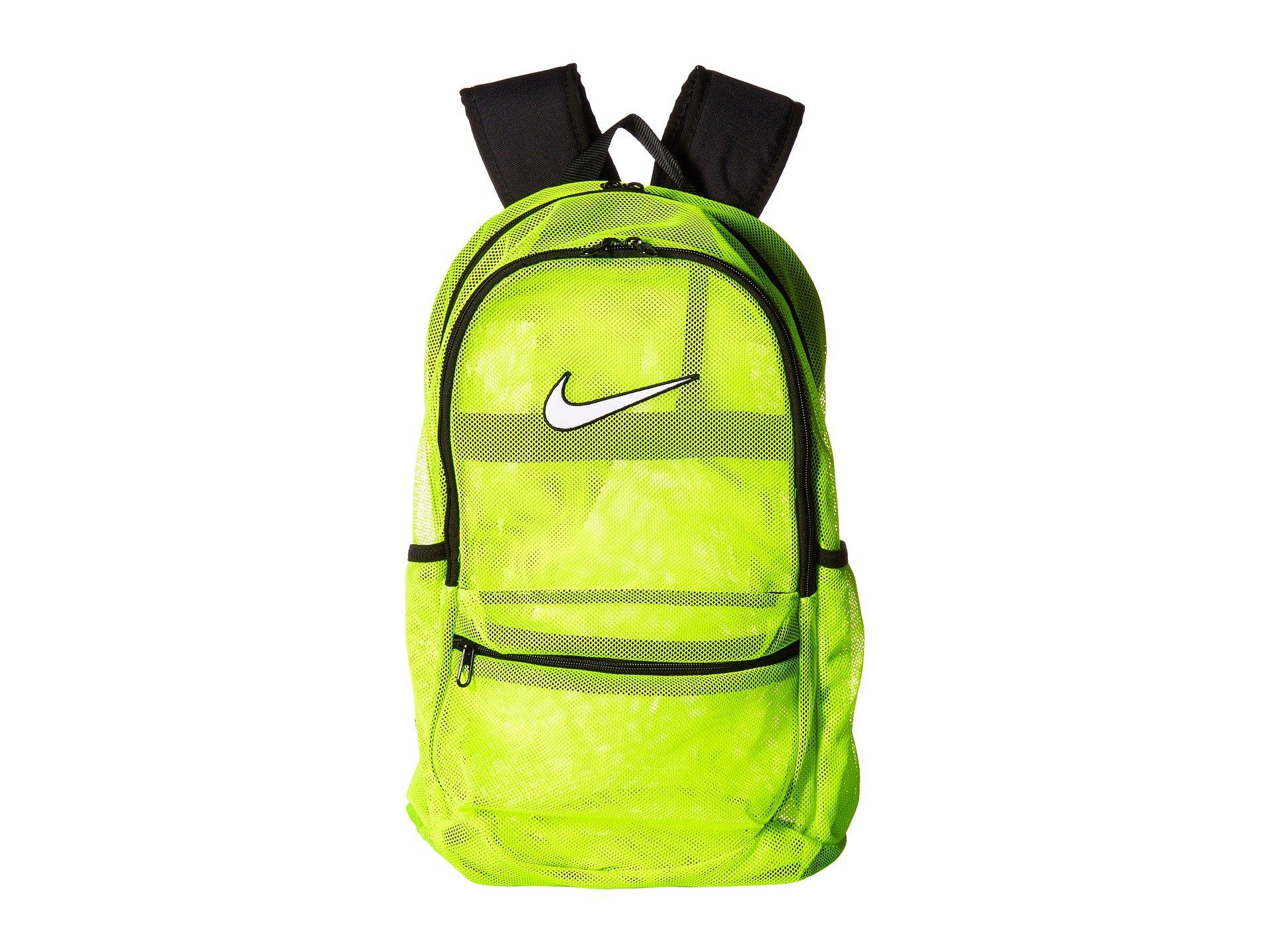 f408c09b80 Nike Brasilia Mesh Backpack In Volt Black White