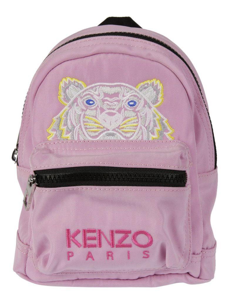 5d85de9a6a6f9 Kenzo Flamingo Pink Canvas Medium Tiger Backpack In Pink & Purple ...