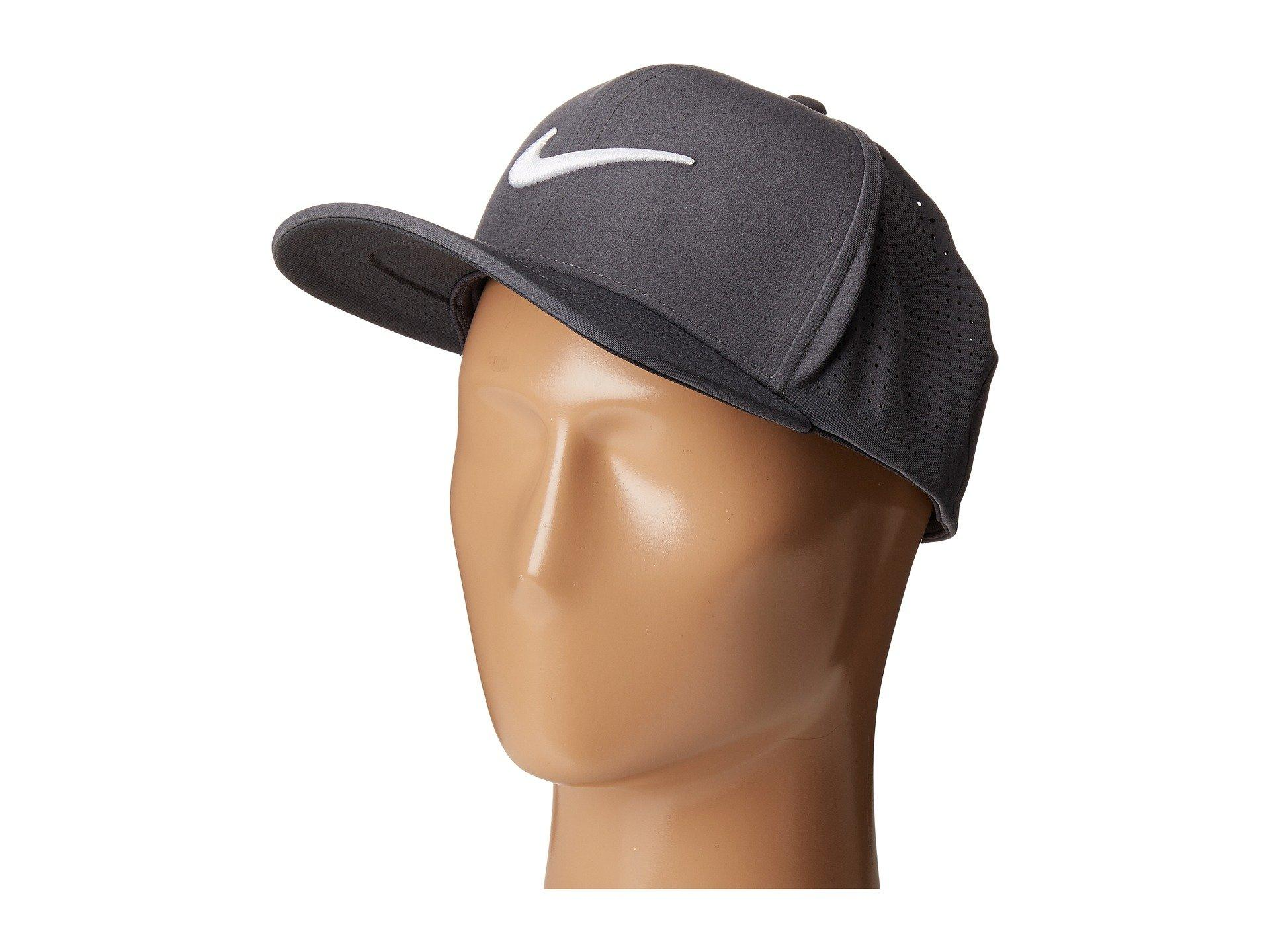 Nike Classic99 Perf Cap In Dark Grey/Anthracite/White
