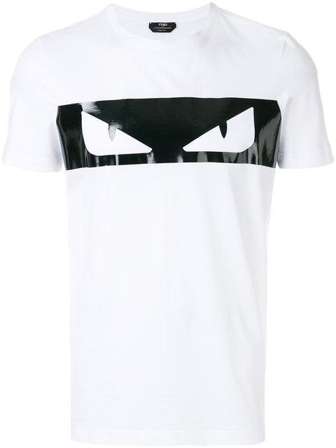 c7a4f1991 Fendi White-Black Bag Bugs Cotton Jersey T-Shirt In Whitebianco ...