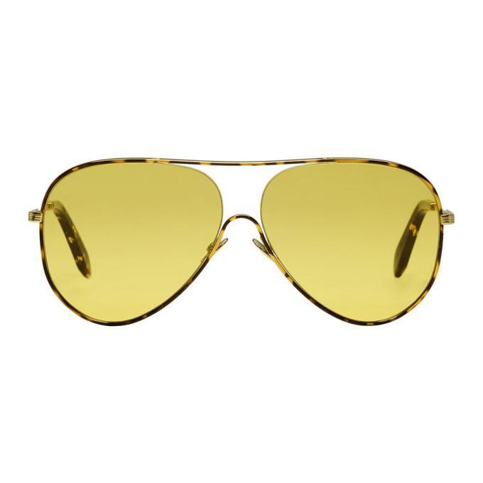 16d43952d Victoria Beckham Tortoiseshell Loop Aviator Sunglasses In C05 Luminer
