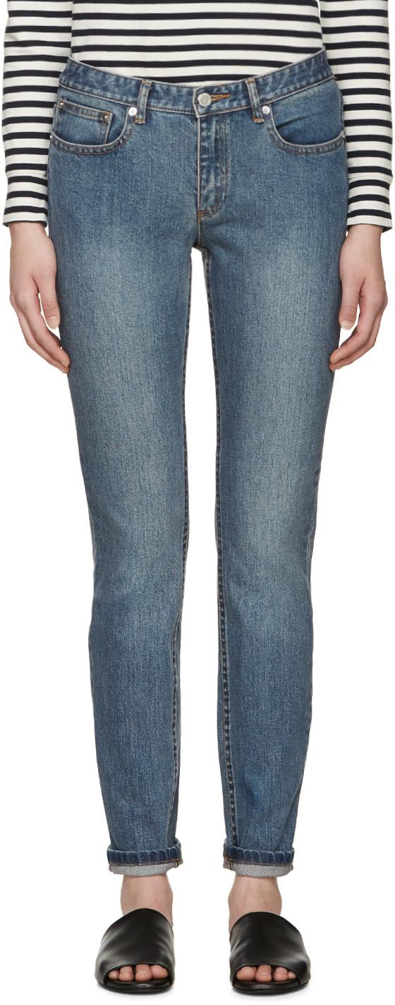 A.p.c. Blue Slim Moulant Jeans