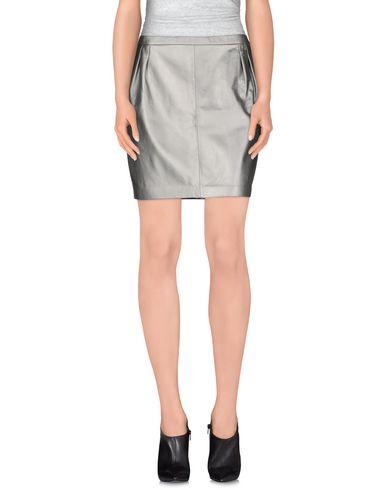 Blk Dnm Mini Skirt In Grey
