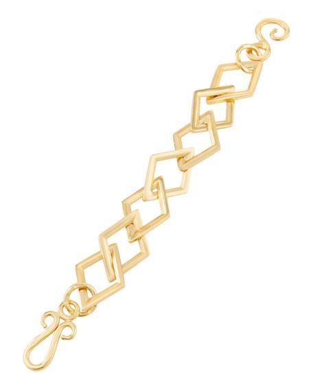 Stephanie Kantis Square-link Element Bracelet In Gold