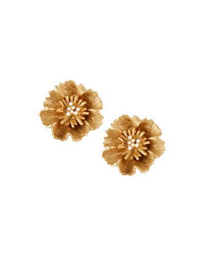 Stephanie Kantis Floral Cluster Stud Earrings In Gold