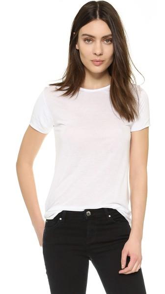 Blk Dnm Plain T-shirt In White