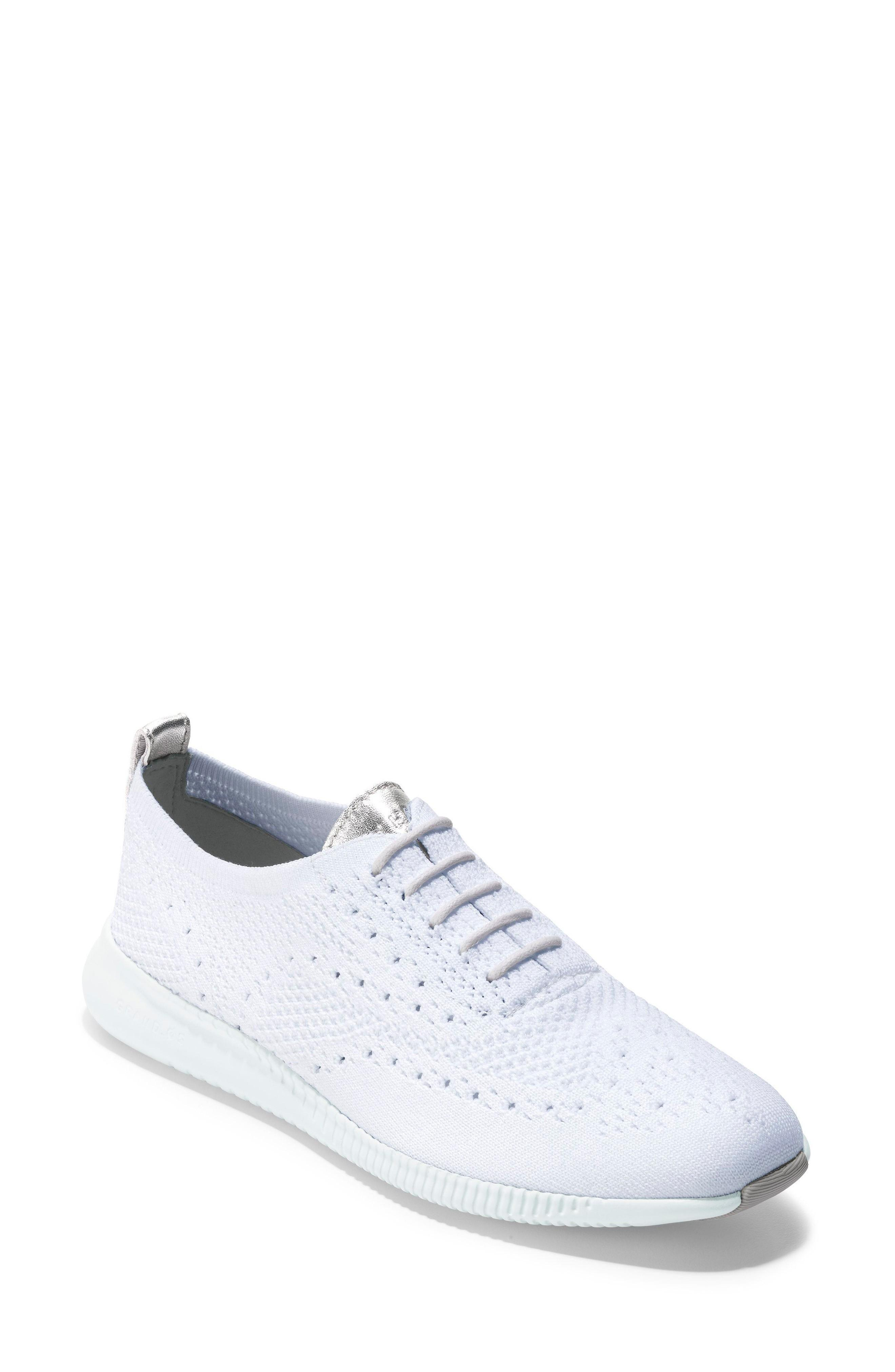7a111ff37b Cole Haan 2.Zerogrand Stitchlite Knit Wingtip Oxford Sneakers, White In  Optic White Knit