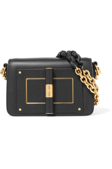 Tom Ford Medium Leather Natalia Shoulder Bag In Black