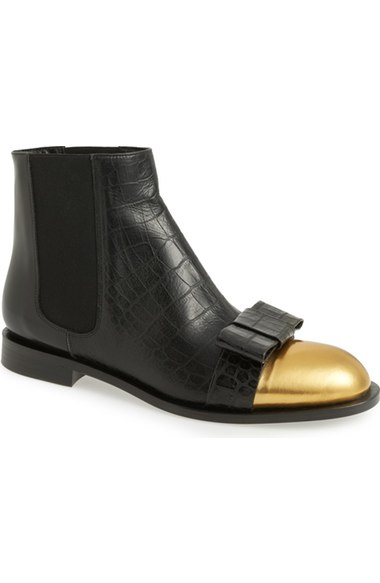 210e5e2439 Marni Woman Croc-Effect Leather Chelsea Boots Black In Black Leather ...