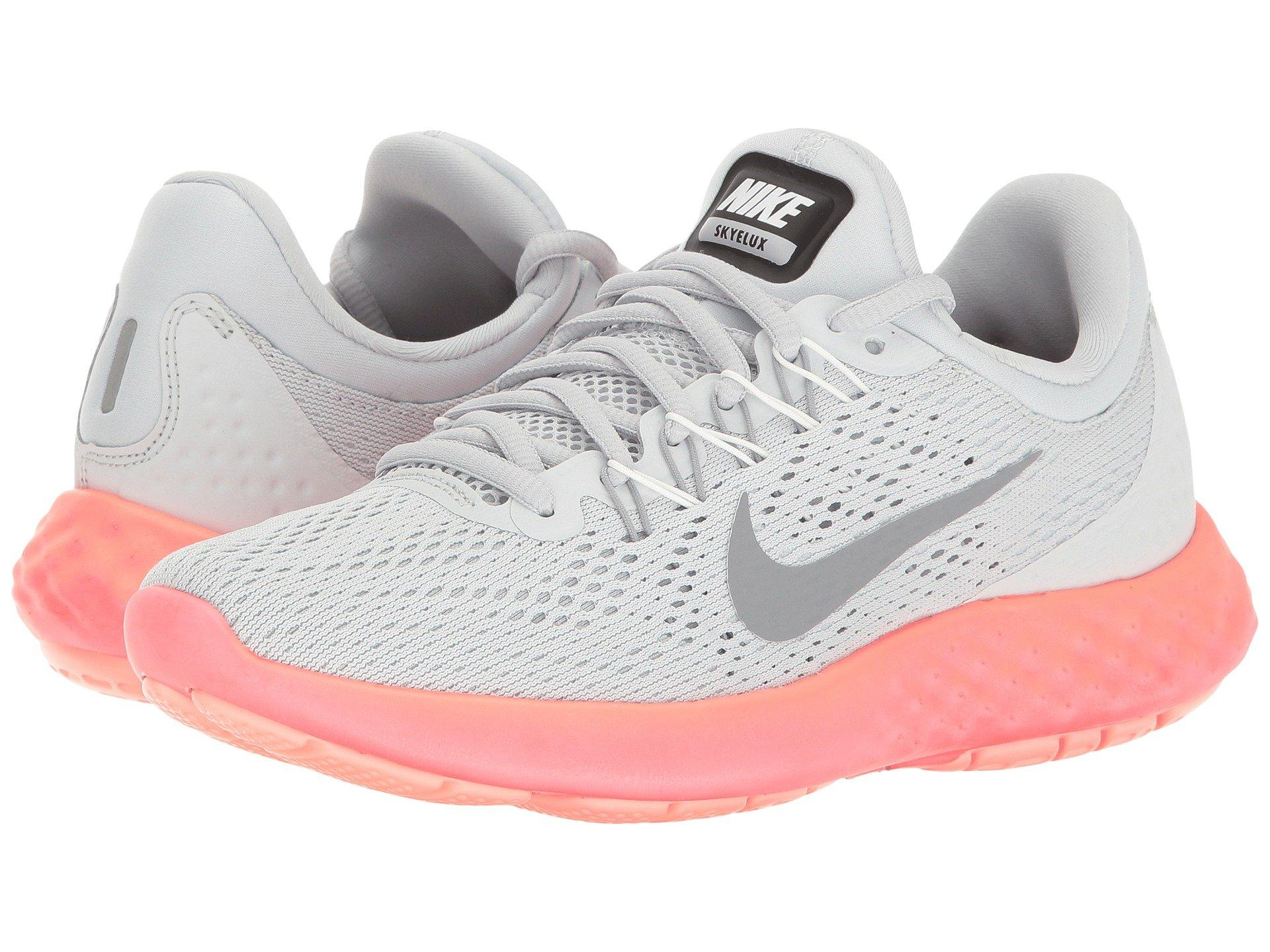 hot sale online 9861d 69a43 Nike Lunar Skyelux In Pure Platinum/Stealth/Summit White   ModeSens