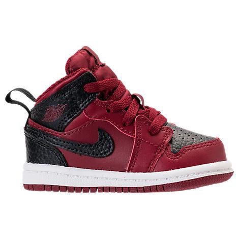 8e033cd2e597a1 Nike Boys  Toddler Air Jordan Retro 1 Mid Basketball Shoes