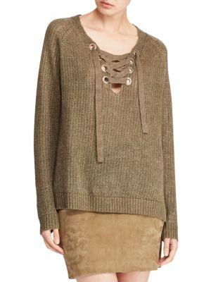 Knit Lace In Sweater New Olive Up eDYbWE29IH