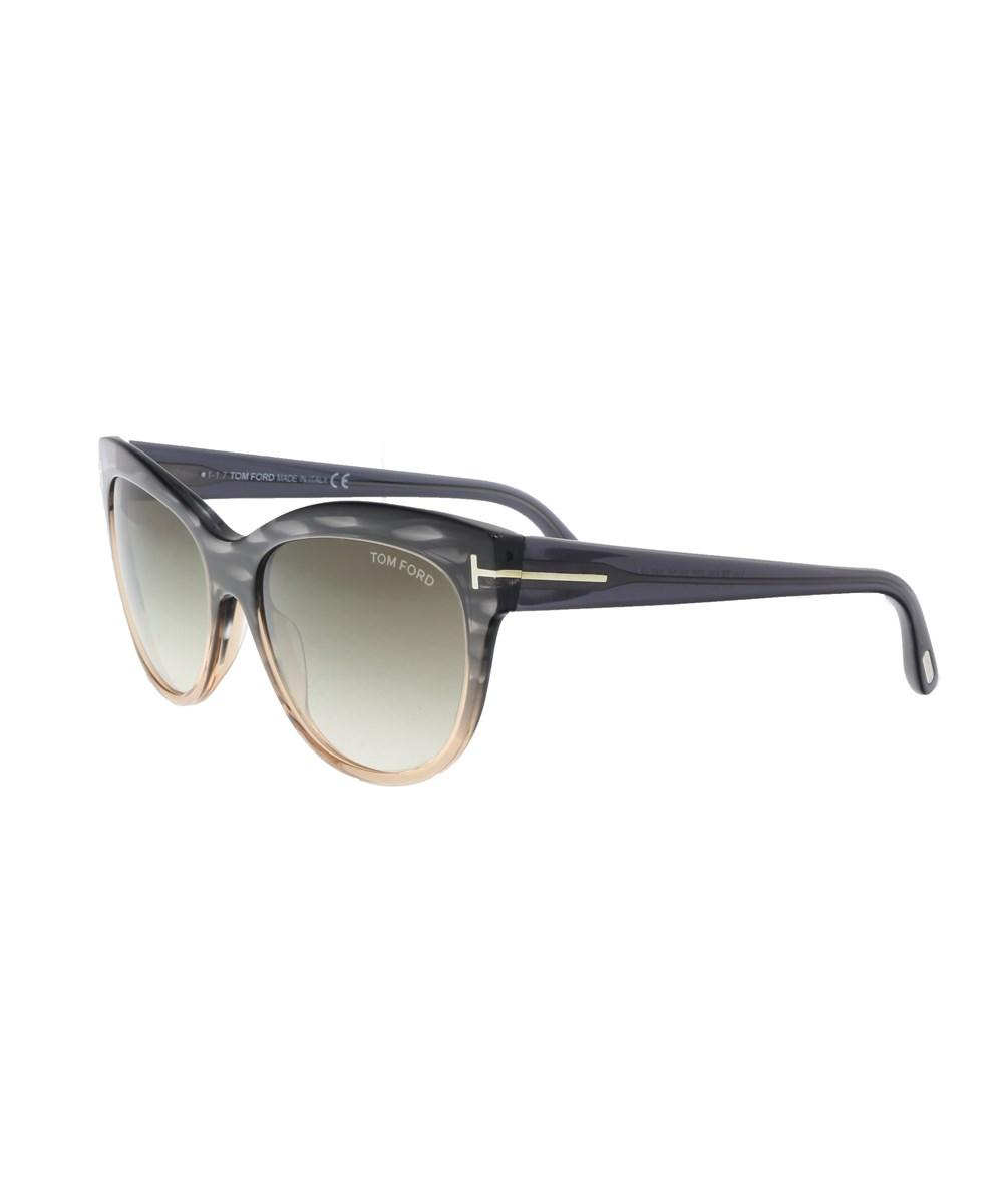 4ffedbaaccec5 Tom Ford Ft0430 S 20P Lily Charcoal Light Coral Cateye Sunglasses In Grey