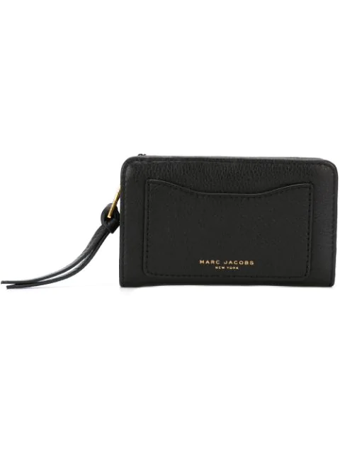 Marc Jacobs Recruit Wallet With Leather Strap In Black