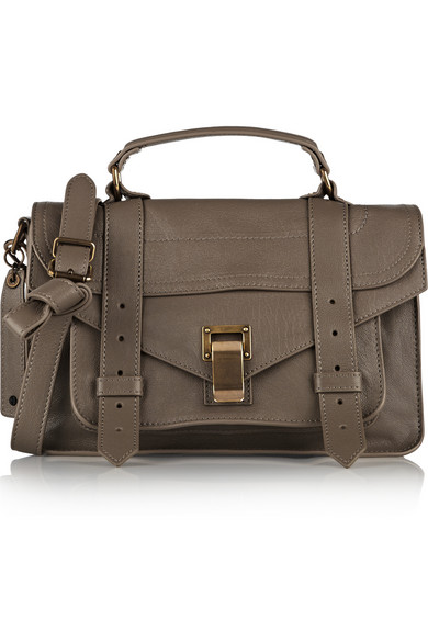 Proenza Schouler The Ps1 Tiny Leather Satchel In Neutrals