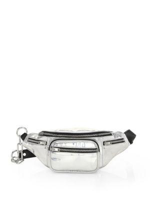 9bc099d280b Attica Faux Leather Belt Bag - Metallic in Silver