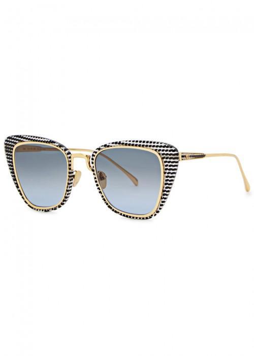 1cd60adfe5 Am Eyewear Sal Cat-Eye Sunglasses In Blue. Harvey Nichols