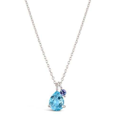Dinny Hall Silver Gem Drop Pendant