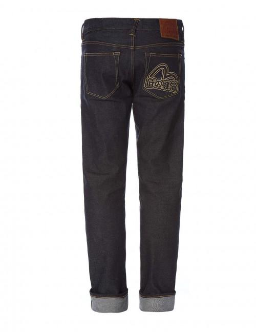 eb75b9b3e7c3 Evisu Stretch Skinny-Fit Seagull Embroidered Raw Selvedge Jeans ...