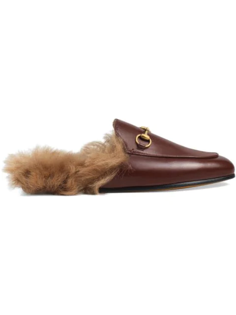 Gucci Princetown Leather Slipper In Red