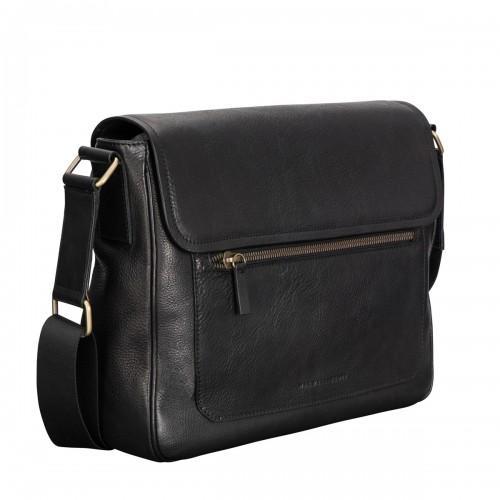 9214efb559b Maxwell Scott Bags Men S Modern Black Italian Leather Satchel Bag ...