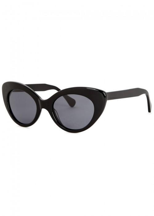 a44acc5ddf Roberi And Fraud Agnes Black Cat-Eye Sunglasses. Harvey Nichols