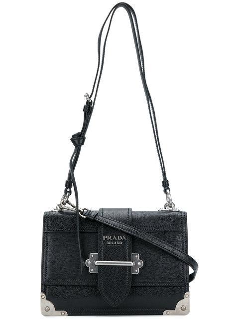 f61d0f4b1e80 Prada Cahier Mini Bag In F0632 Black | ModeSens