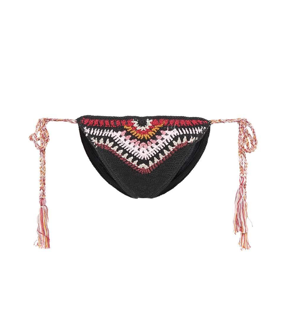 bff3179aa1d Anna Kosturova Crocheted Bikini Bottoms In Black | ModeSens