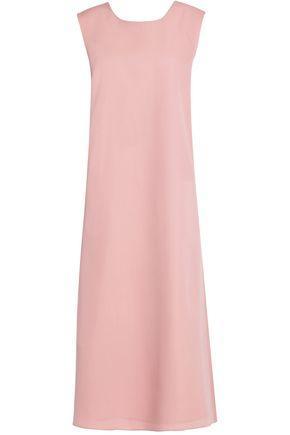 Rochas Woman Bow Detail Wool-Crepe Midi Dress Pink
