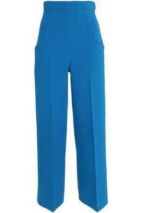 Roland Mouret Woman Ward Wool-Crepe Wide-Leg Pants Azure