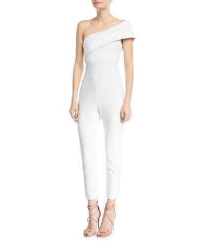 1d34a69fbafb Cushnie Et Ochs One-Shoulder Straight-Leg Crepe Jumpsuit In White ...