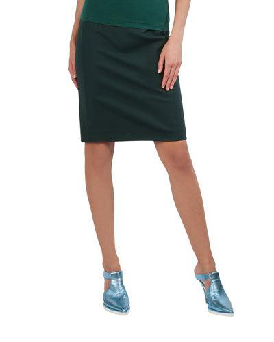 fe4658c94 Akris Punto Techno-Stretch Back-Zip Knee-Length Pencil Skirt In ...