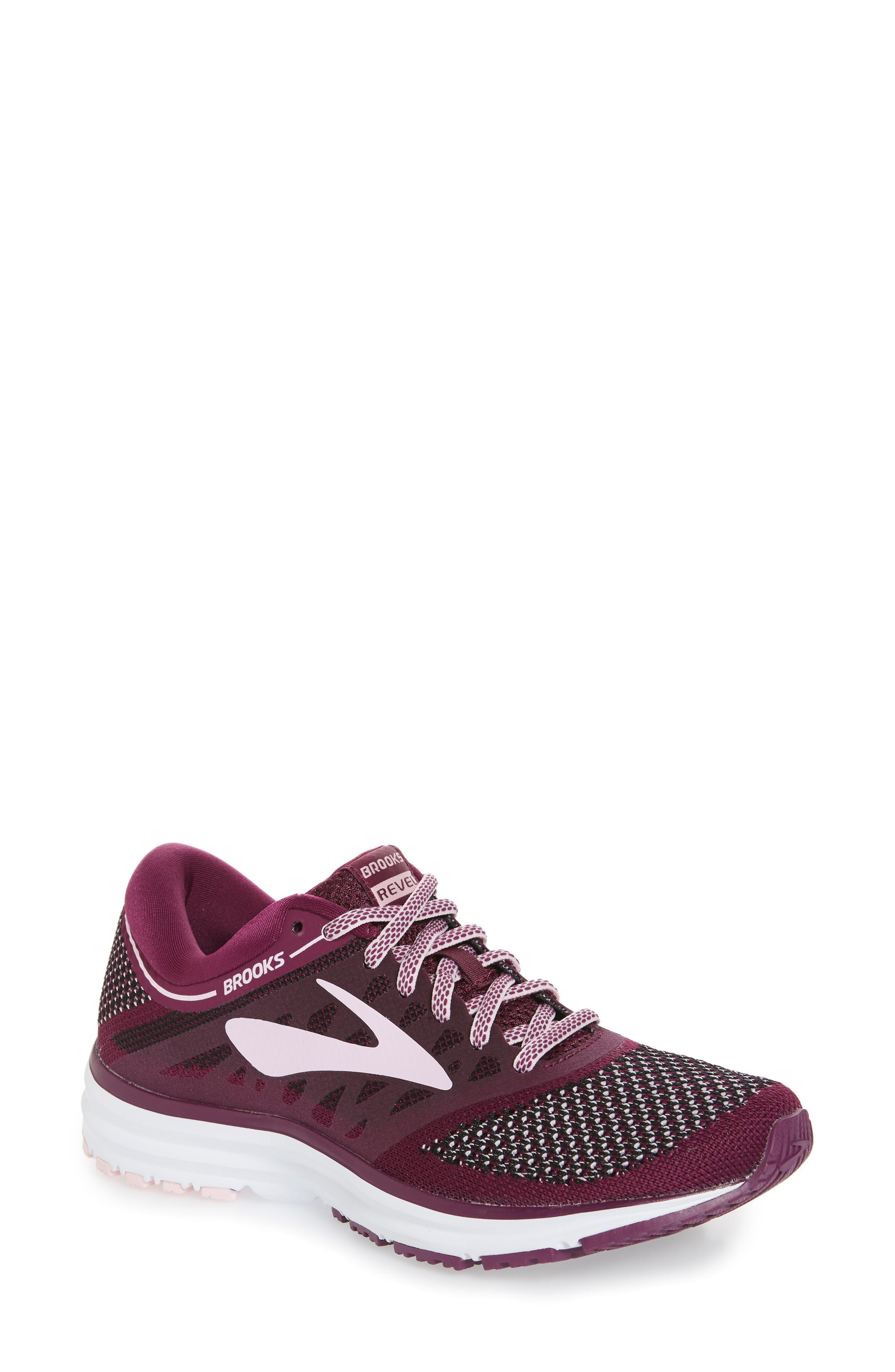 e7e8174325196 Brooks Revel Running Shoe In Plum  Pink  Black