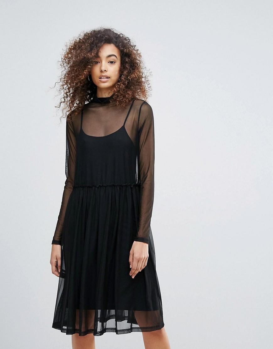 e31dc091c511 Gestuz Mesha Overlay High Neck Dress - Black | ModeSens
