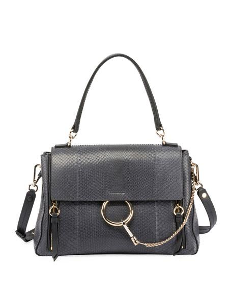 b18c7d673a1 FAYE DAY MIXED FLAP SHOULDER BAG. Chloe shoulder bag in genuine python ...