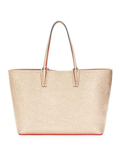 9f6d8f313 Christian Louboutin Cabata Calfskin Leather Tote - Metallic In Rose Gold