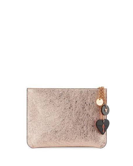 69ce0606b14 Loubicute Leather Pouch With Charms - Metallic in Rose Gold