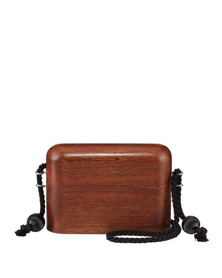 The Row Wood Evening Case Crossbody Bag In Brown