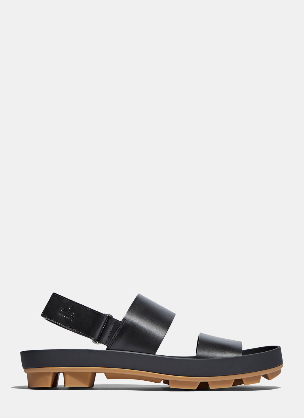 Gucci Men's Leather Two Strap Sandals In Black