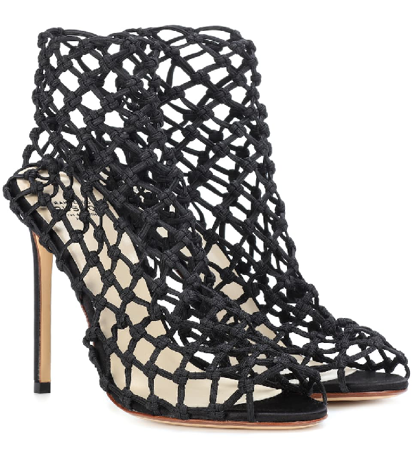 d1a3d37d3ff7bb Francesco Russo Black 105 Elastic Satin Sandals | ModeSens
